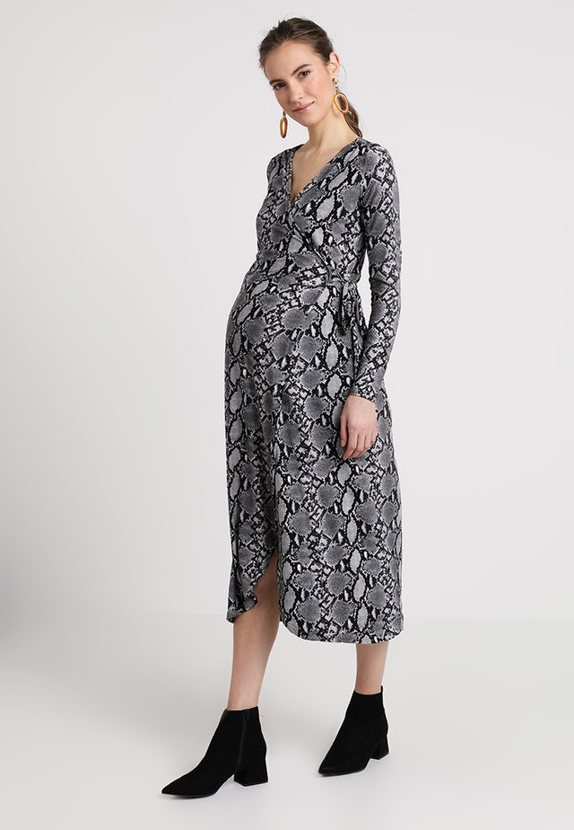 SERENA SNAKE WRAP - Vestido ligero - grey