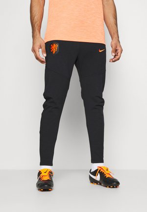 NIEDERLANDE PANT - National team wear - black/safety orange