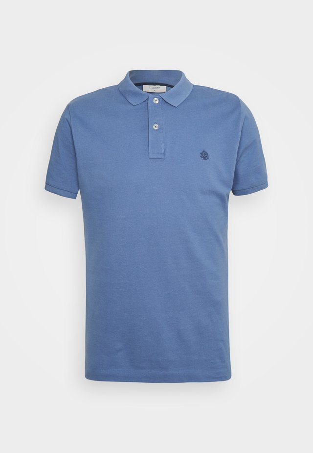BASIC SLIM - Polo - medium blue