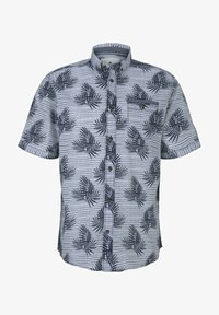 TOM TAILOR - Shirt - white navy leaf stripe design - 4