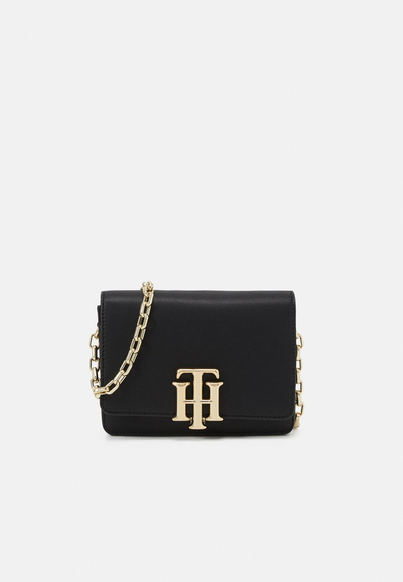 Tommy Hilfiger - LOCK MINI CROSSOVER - Across body bag - black