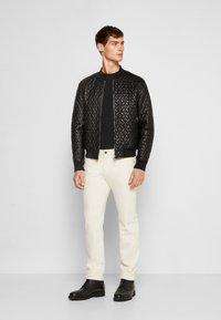 Emporio Armani - BLOUSON - Leather jacket - black - 1