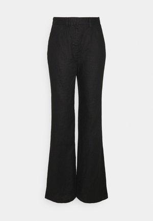 FLARED PANTS - Broek - black