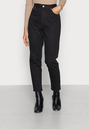 NORA  - Jeans relaxed fit - washed black stretch