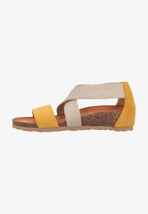 Sandaler m/ kilehæl - ocra