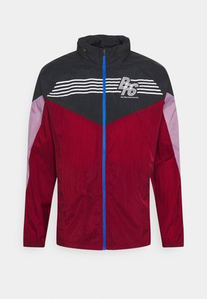 WINDRUNNER BLUE RIBBON SPORTS - Chaqueta de deporte - black/team red/violet dust/reflective silver