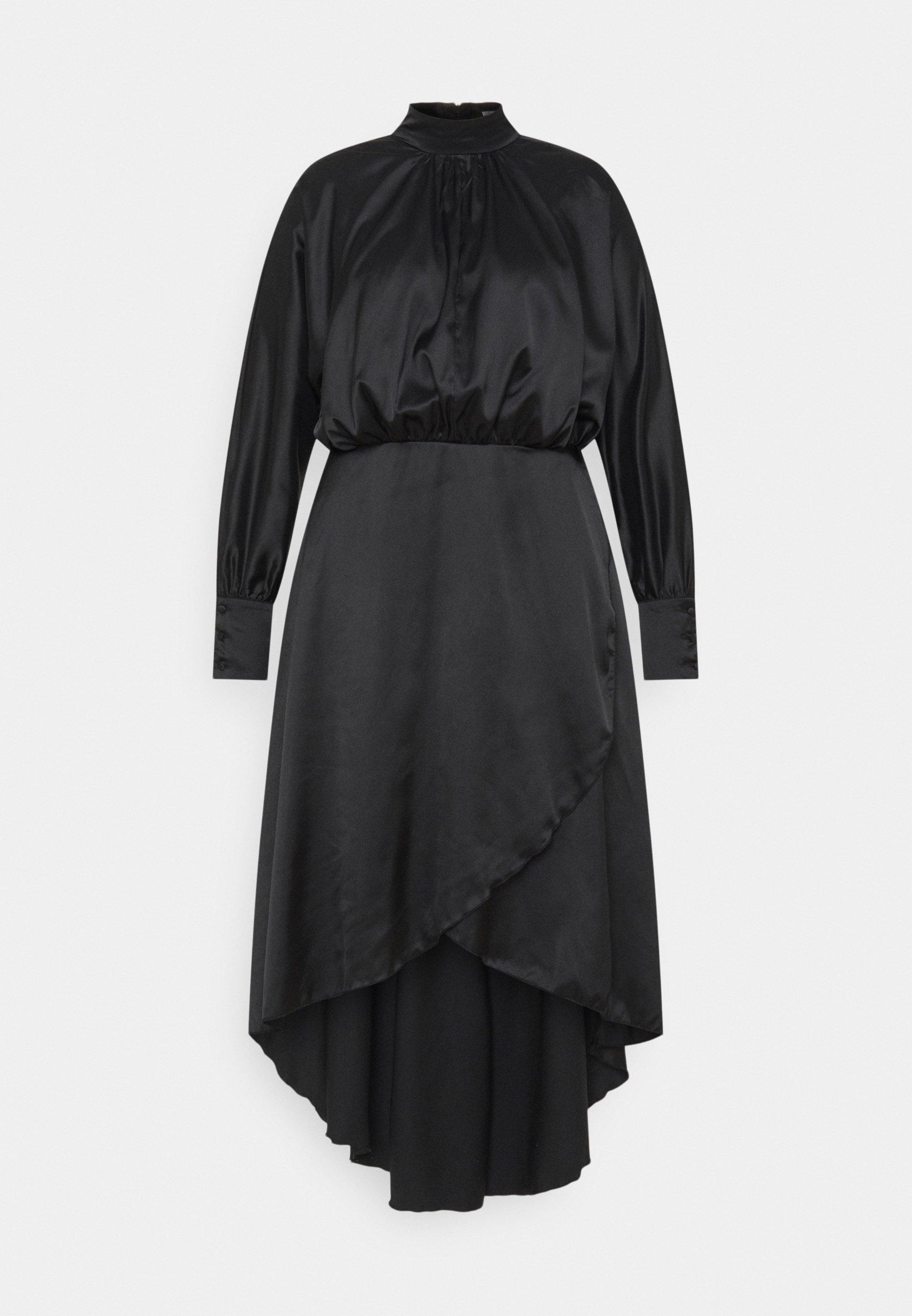 Women PLUS HI NECK LOW WRAP DRESS - Cocktail dress / Party dress