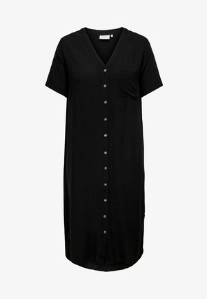 CARNEWDENIZIA CALF DRESS - Shirt dress - black