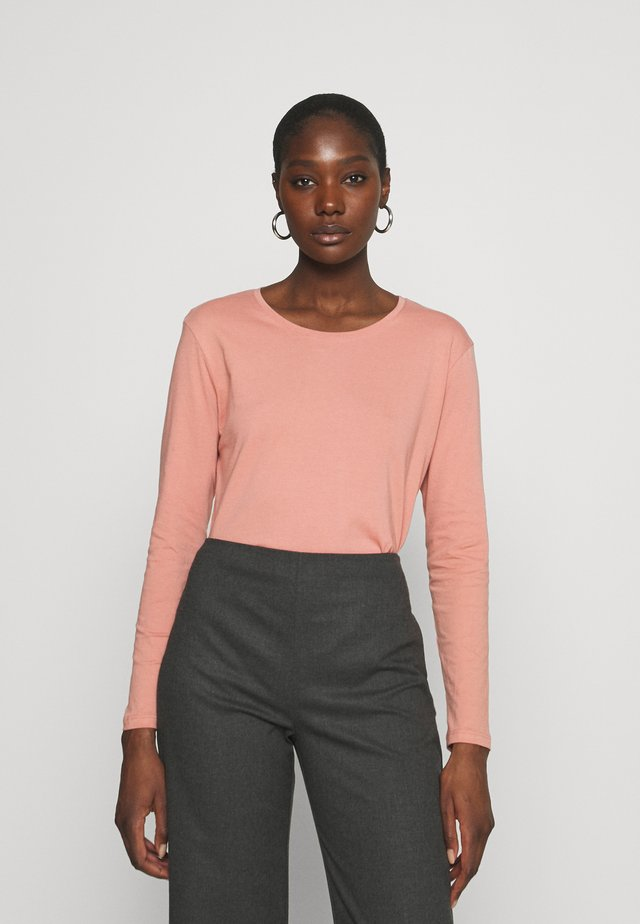 LONG SLEEVE SADDLE HEM - Top s dlouhým rukávem - dusty pink