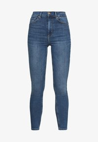 PCNORA - Jeans Skinny Fit - medium blue denim