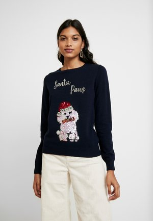 SANTA PAWS - Jumper - navy