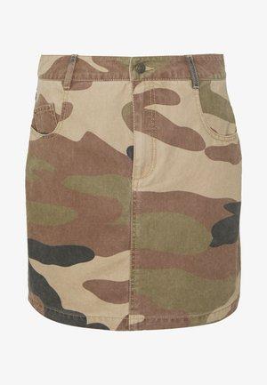 ONLFAVOURITE SKIRT  - A-line skirt - kalamata/camo