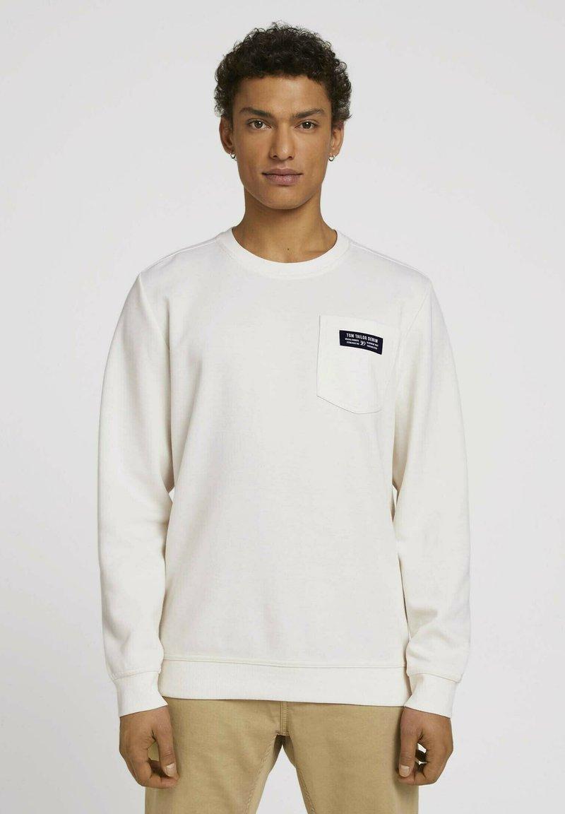 TOM TAILOR DENIM - Sweatshirt - soft light beige