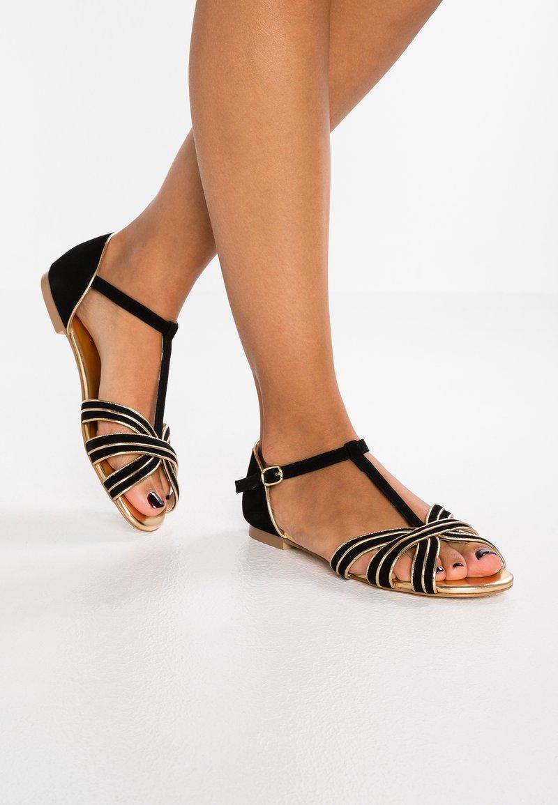mint&berry - Sandals - black/gold