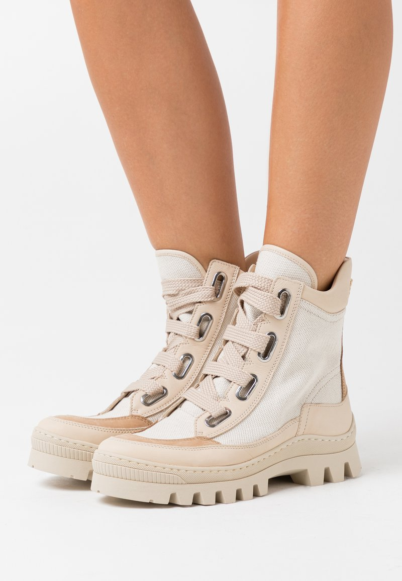 MAX&Co. - OTAY - Lace-up ankle boots - beige