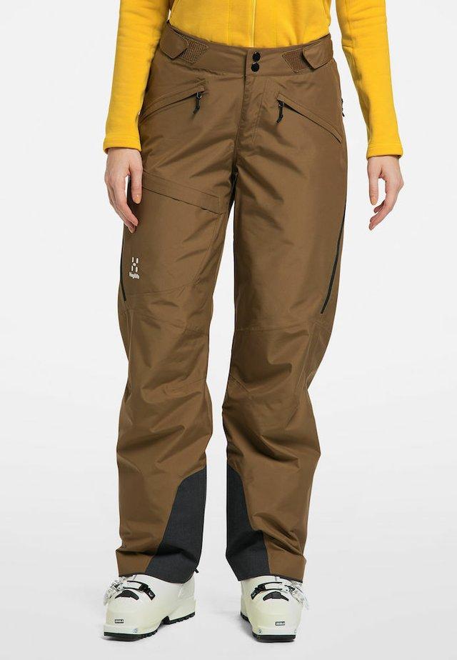 LUMI LOOSE PANT - Snow pants - teak brown