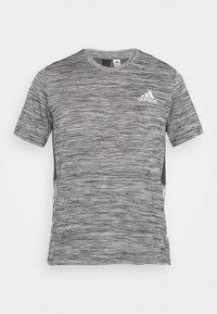dark grey heather/solid grey