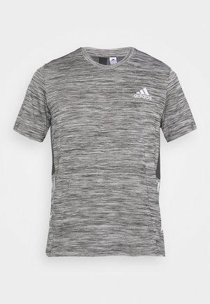OUTDOOR - Print T-shirt - dark grey heather/solid grey