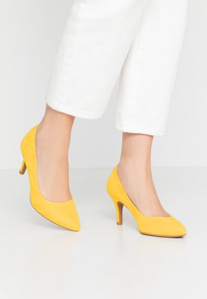 COURT SHOE - Classic heels - yellow