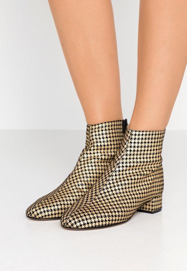 JOLAINE - Ankle boots - noir/or