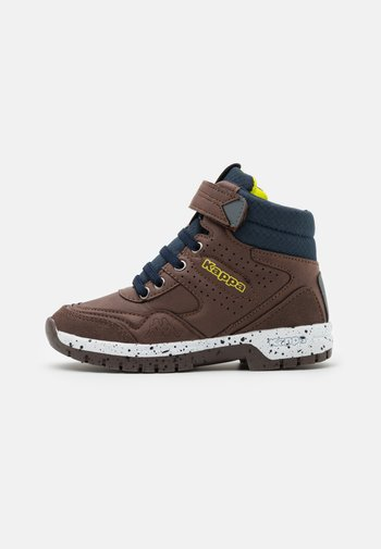 LITHIUM UNISEX - Hiking shoes - brown/navy