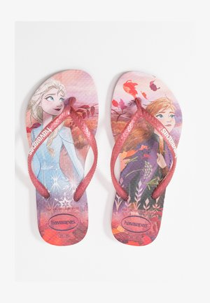 KIDS SLIM FIT FROZEN ELSA & ANNA - Pool slides - crystal rose