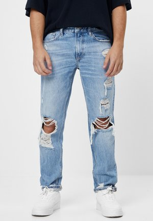 VINTAGE  IM STRAIGHT-FIT MIT RISSEN - Straight leg jeans - blue denim