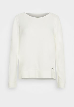 LONG SLEEVE ROUND NECK PRINT AT BACK - Sweatshirt - off white