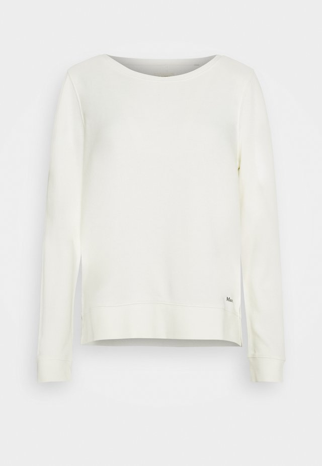 LONG SLEEVE ROUND NECK PRINT AT BACK - Felpa - off white