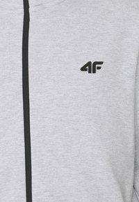 4F - Men's hoodie - Zip-up hoodie - grey - 2