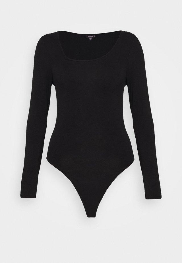 AYSMMETRIC NECK BODYSUIT - Body - black