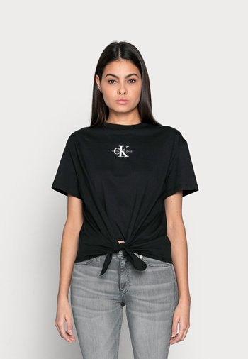 KNOTTED TEE - T-shirts med print - black