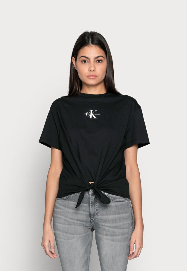 KNOTTED TEE - Print T-shirt - black