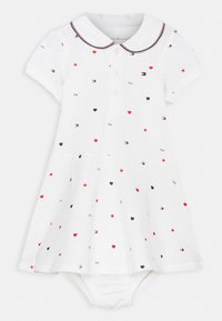 Tommy Hilfiger - BABY FLAG POLO DRESS - Jersey dress - white - 0