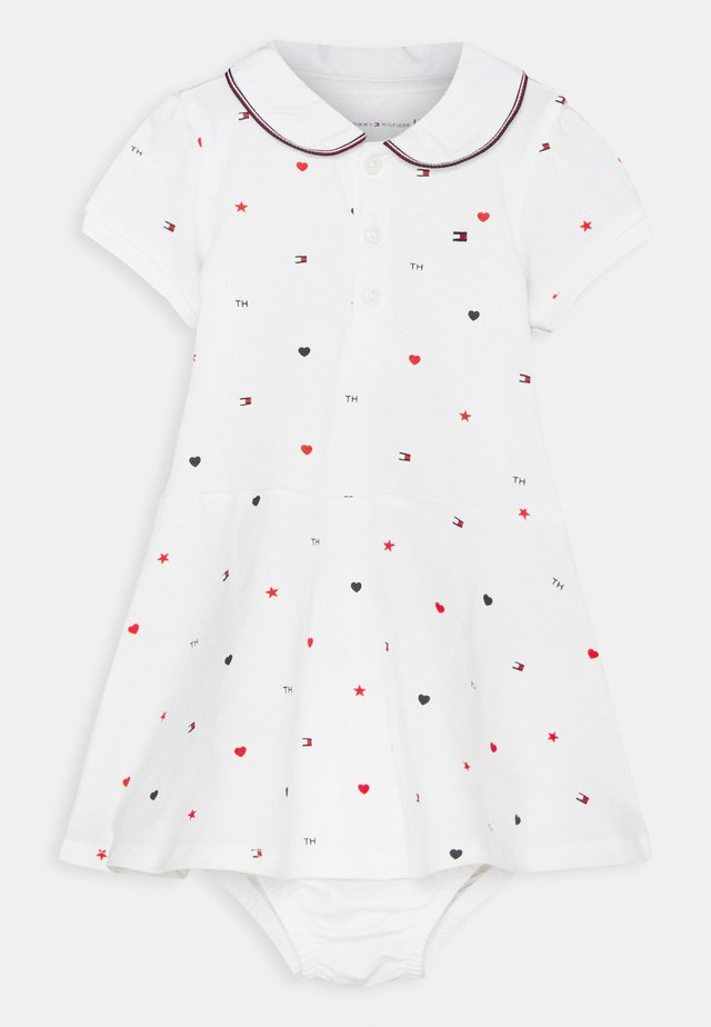 BABY FLAG POLO DRESS - Žerzejové šaty - white