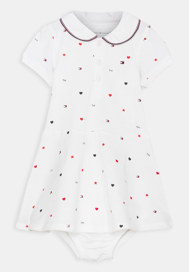 Tommy Hilfiger - BABY FLAG POLO DRESS - Jersey dress - white