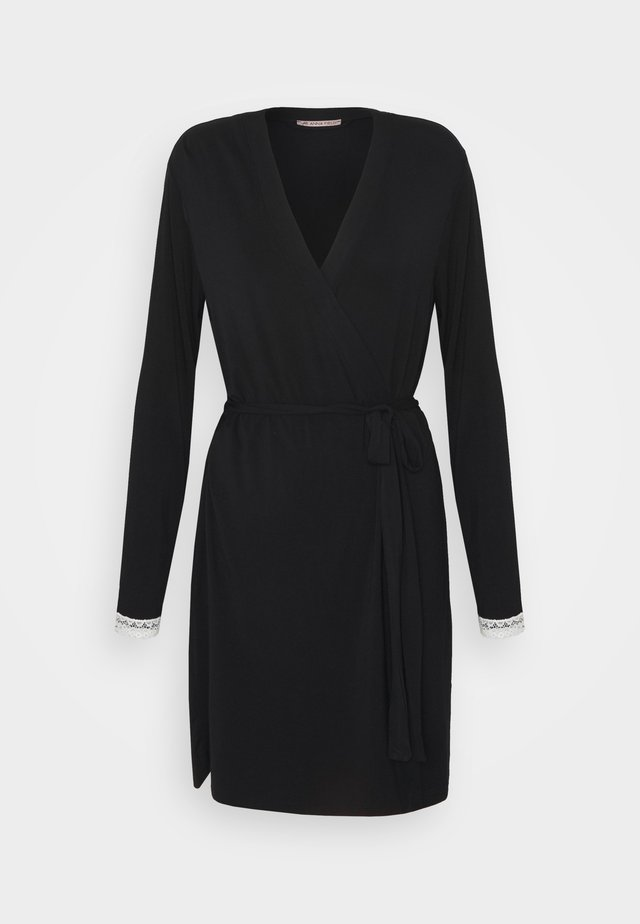 HEIDI  DRESSING GOWN - Badekåber - black/beige