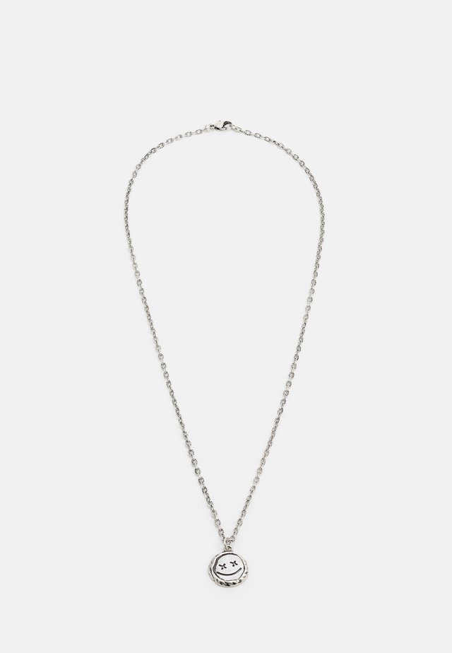 EXPRESSIVE FACE NECKLACE - Smykke - silver-coloured