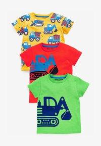 Next - 3 PACK  - T-shirt print - red - 0