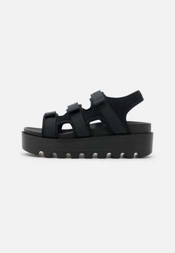 VEGAN KATO PADDED CHUNKY - Platform sandals - black