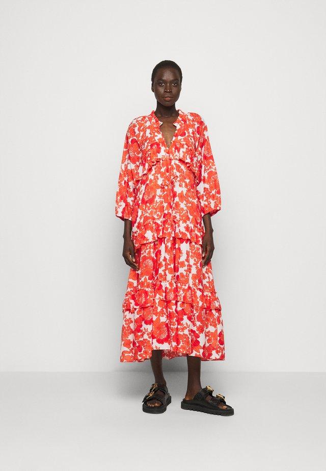 BERENICE PRINT - Korte jurk - coral