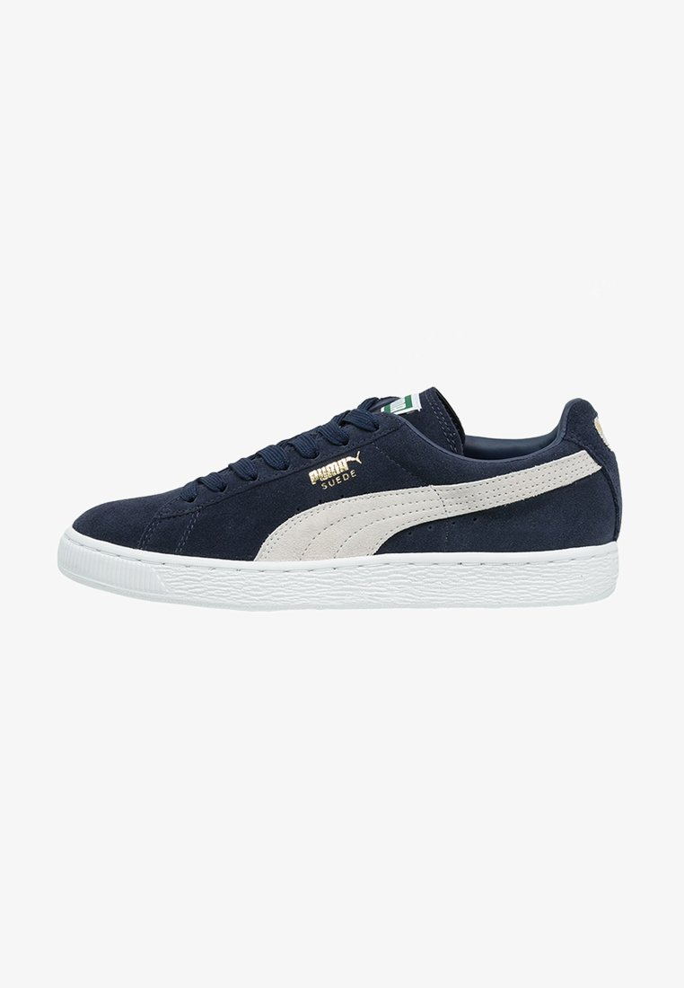 Puma - SUEDE CLASSIC+ - Baskets basses - peacoat/white