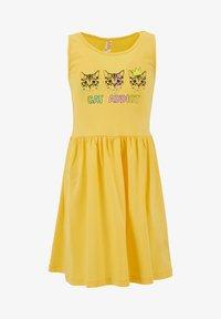 DeFacto - Jersey dress - yellow - 0