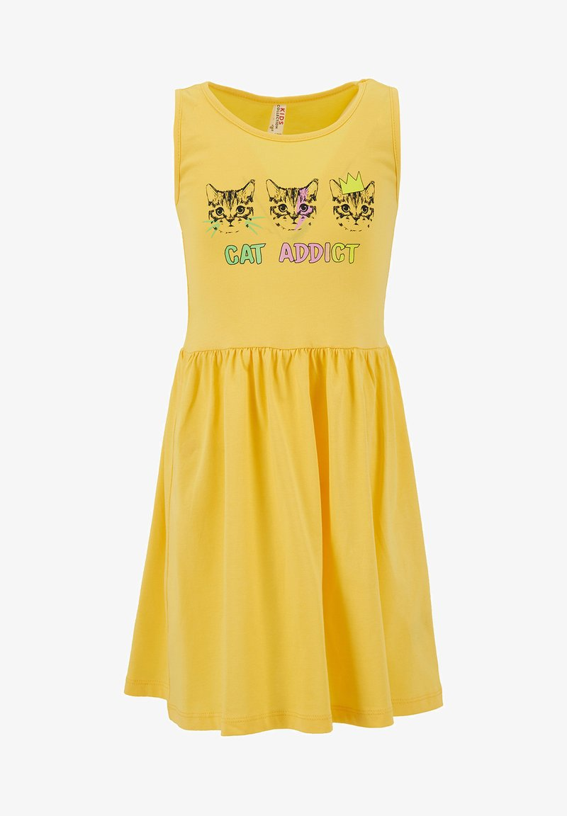 DeFacto - Jersey dress - yellow