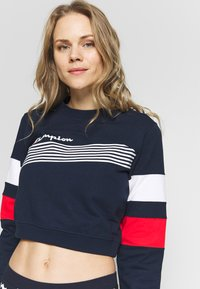 Champion - CREWNECK CROPTOP - Sweatshirt - dark blue - 3