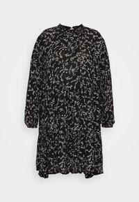 Kaffe Curve - SAVY DRESS - Day dress - black/chalk - 4