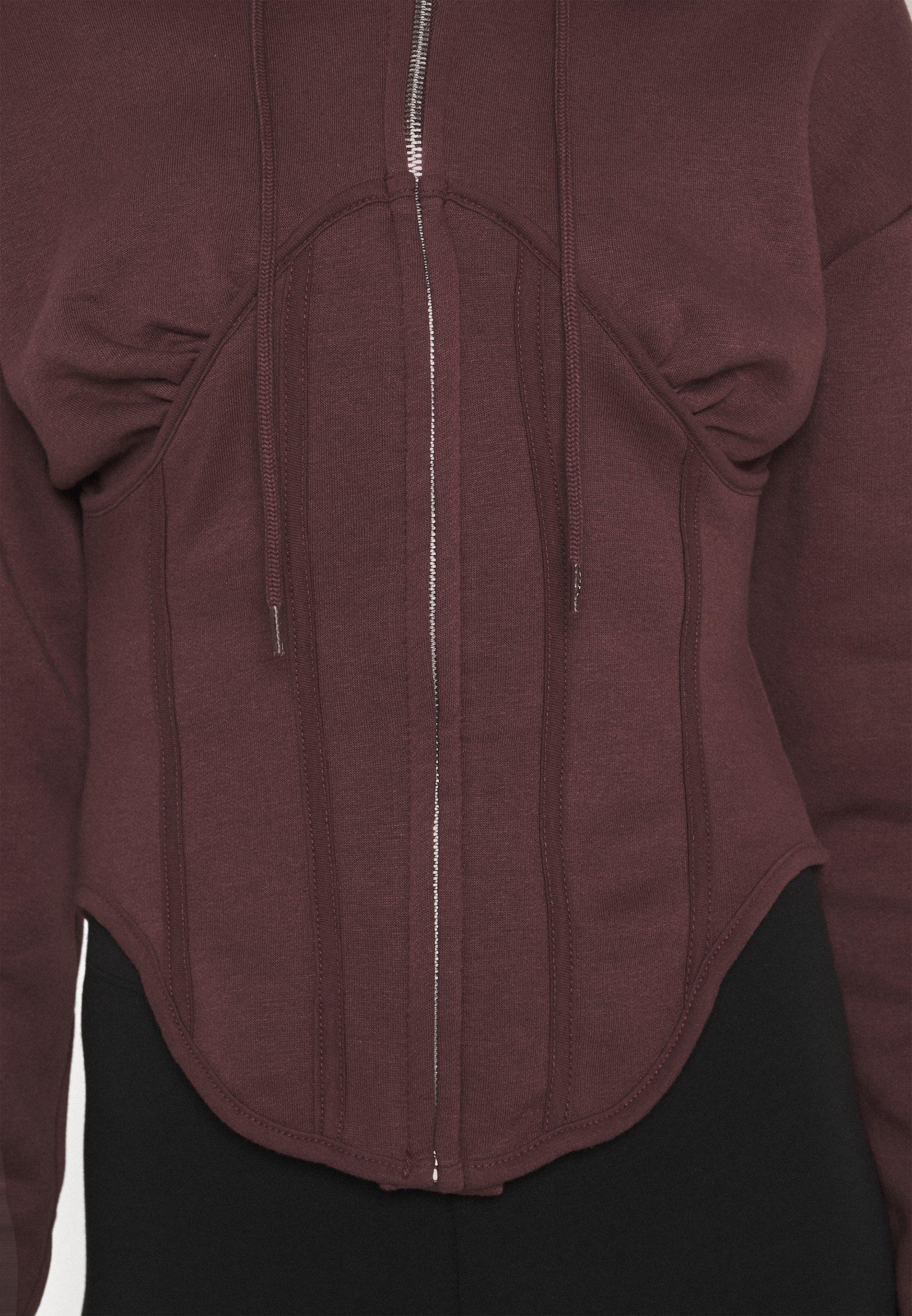 Women CORSET HOODY - Zip-up sweatshirt