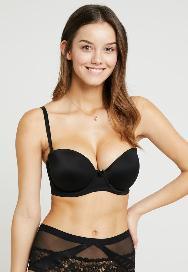 DEFINITIONS STRAPLESS BRA - Biustonosz bardotka - black