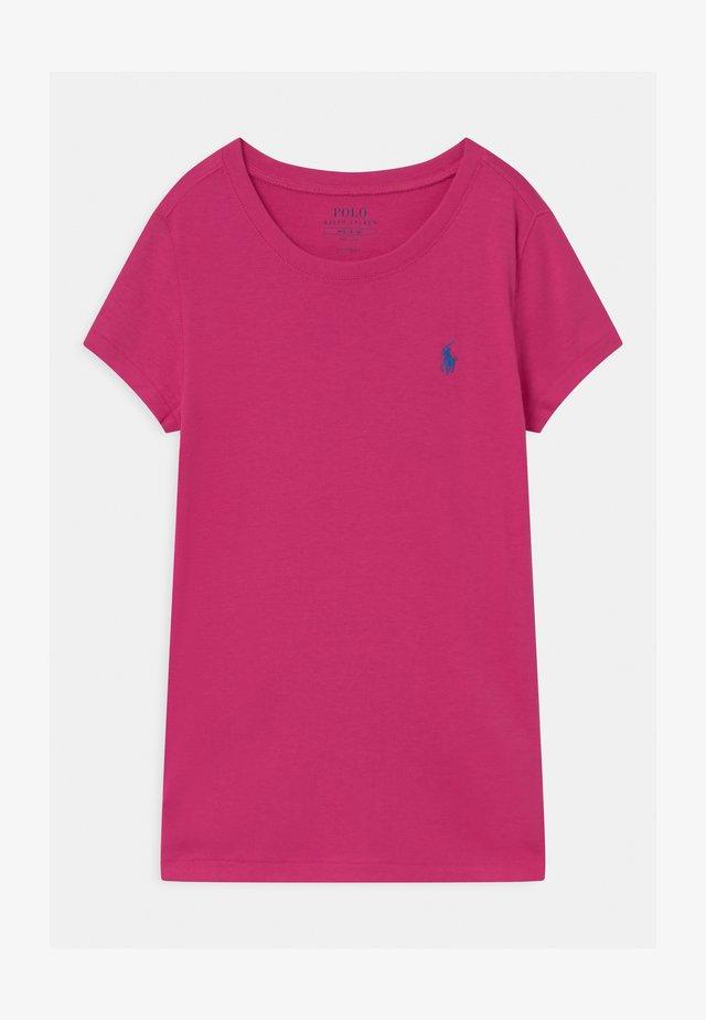 Jednoduché triko - college pink/boysenberry