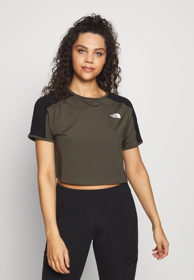 WOMENS ACTIVE TRAIL - Printtipaita - new taupe green